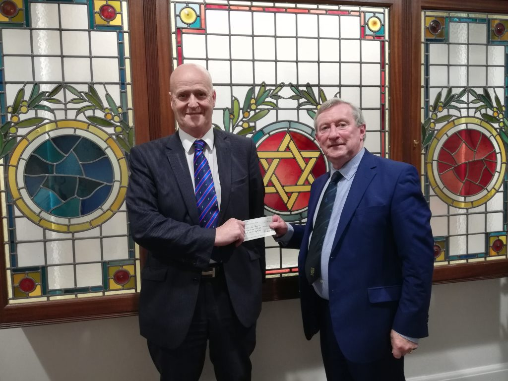 Cary and Dunluce District Charity Committee Cheque Presentation