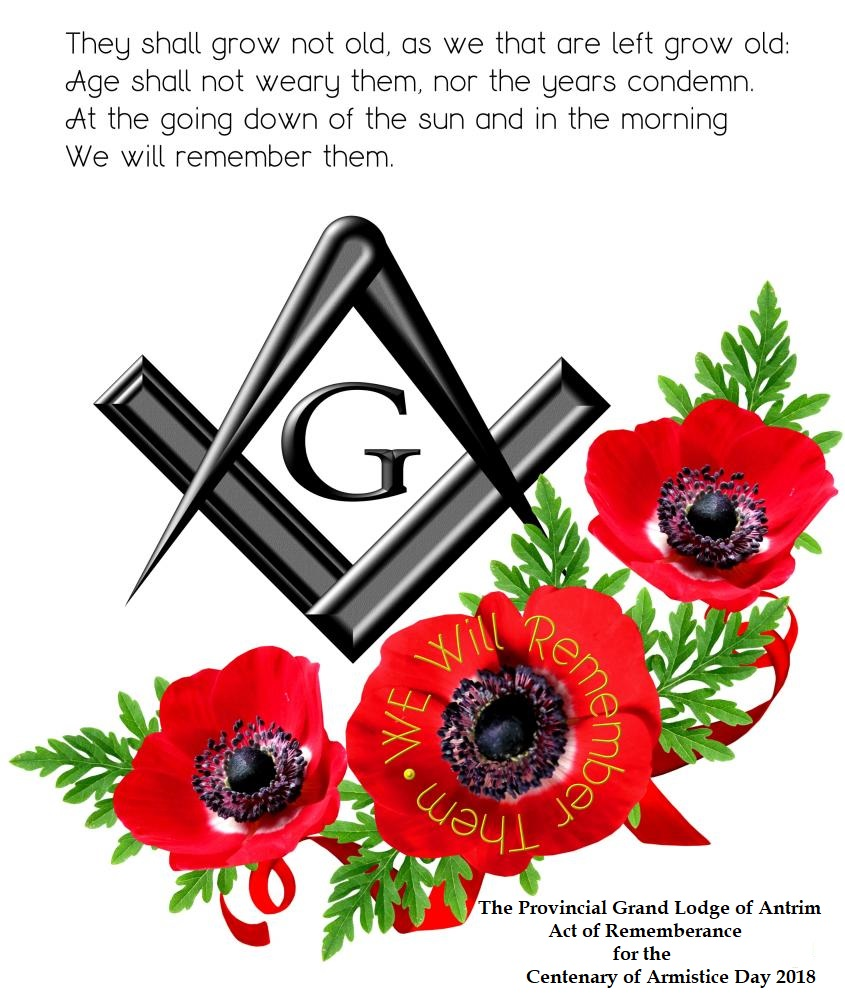 Centenary of Armistice & Provincial Grand Lodge Stated Communication 8th November 2018