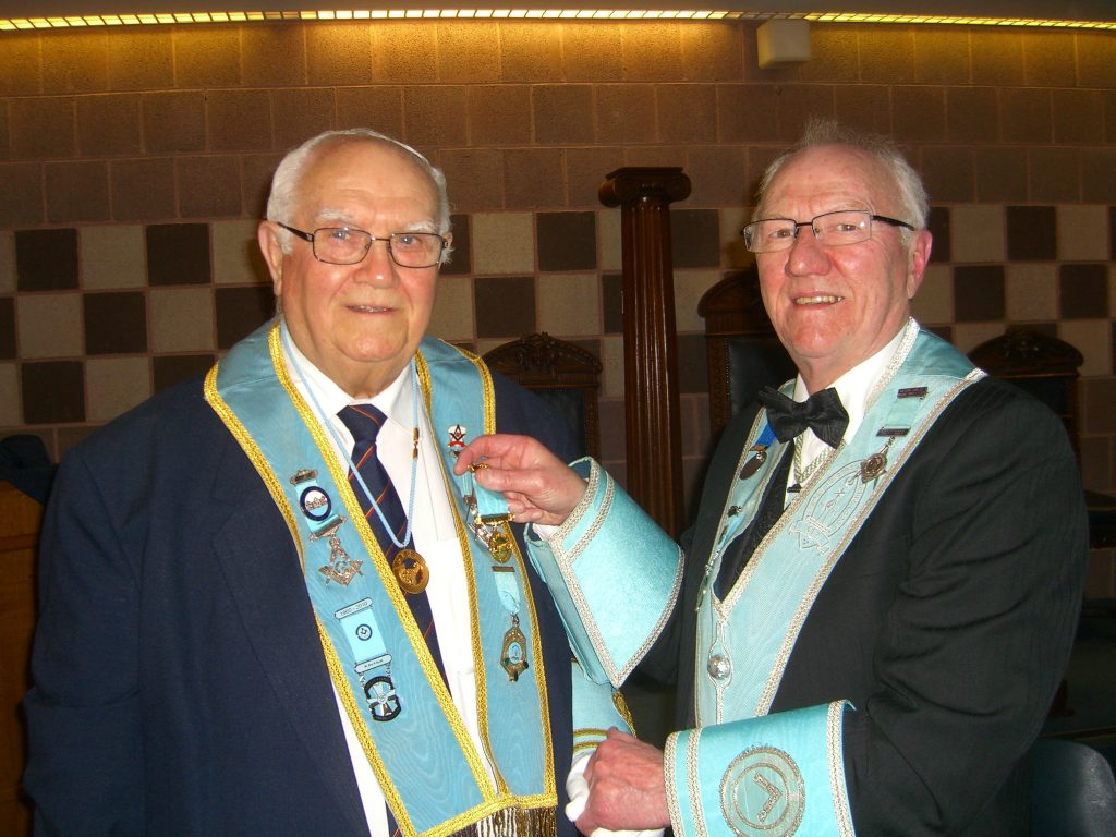 W.Brother Robert (Bobby) Scott stands down after 10 years service