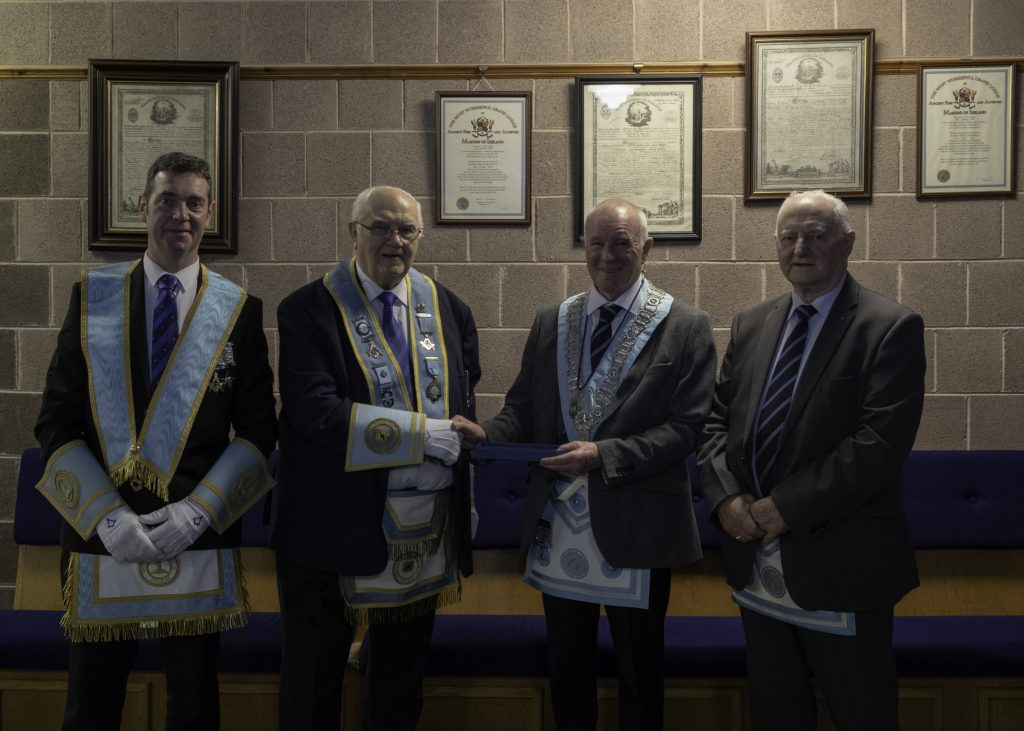 Masonic Trowel presented – Abbey 180