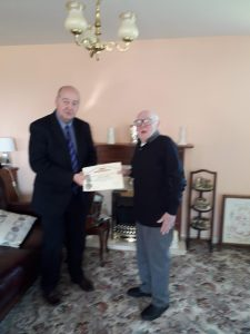 Wor  Brother William Beattie 50th Jewel and Certificate Presentation