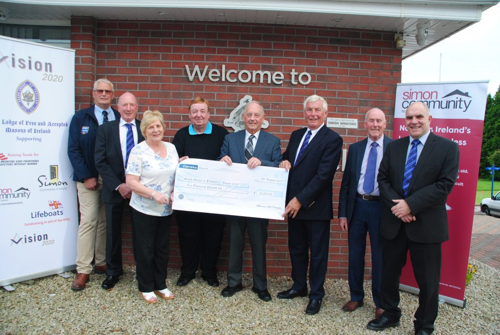 The Grand Masters Festival – Vision 2020 – Receives £10,000 from the Masonic Golf Competition