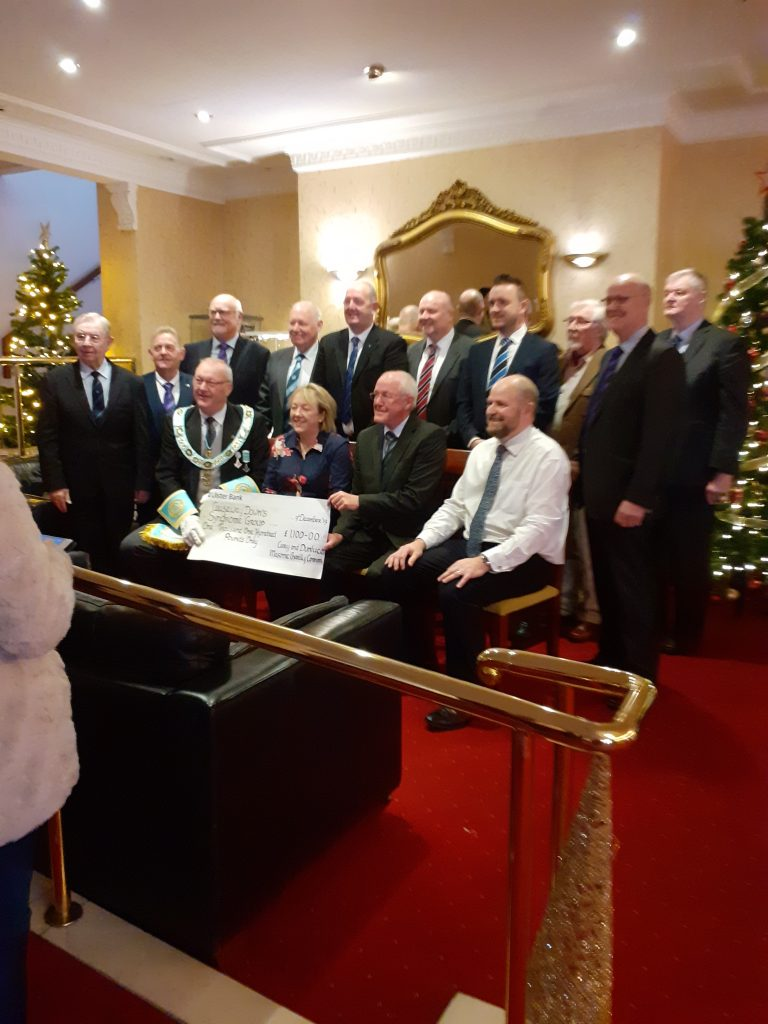 Cary & Dunluce Masonic Charity Committee Cheque Presentation