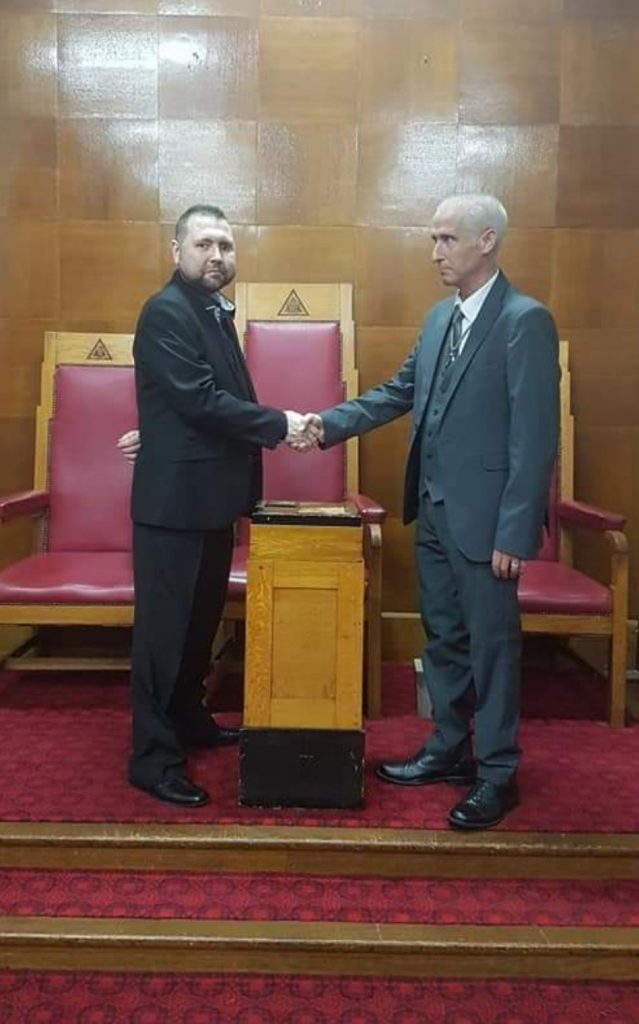 Mr Darren Smyth joins Alfreds Masonic Lodge 59